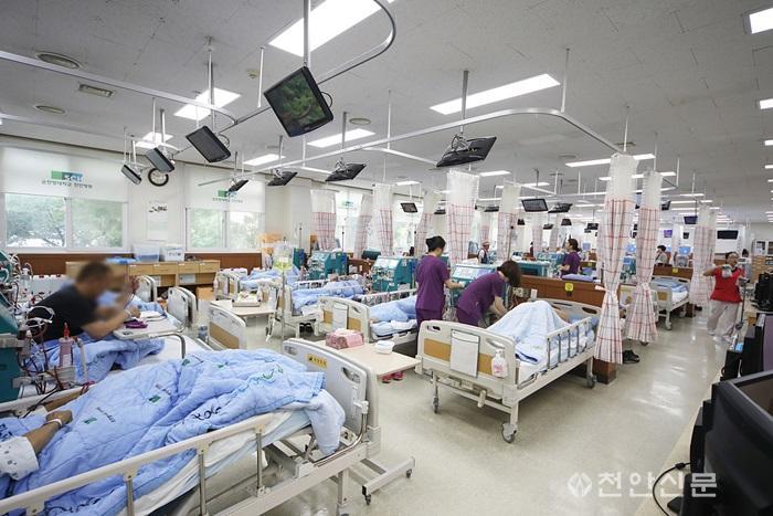 순천향대천안병원 인공신장실 모습.JPG