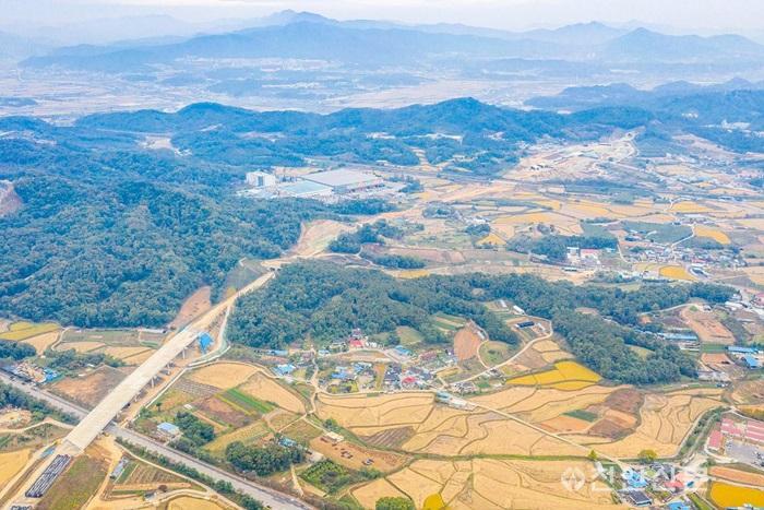 천안-아산 고속도로 공사 현장, 구룡동 일원.jpg